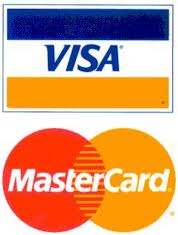We Accept Visa and MasterCard