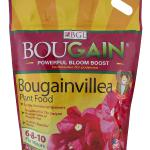 BOUGAIN®  Formulated to dramatically increase blooms, it addresses the bougainvillea's Achilles heel – thin & brittle root system. Plant food that dramatically increases blooms, strengthens roots, increases color vibrancy in both foliage and bracts, and produces an all-over healthy bougainvillea.